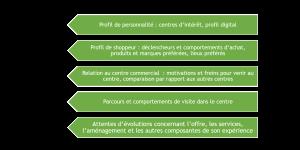 Les 6 dimensions d'analyse pour un persona shopper de centre commercial