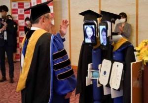 Le Japon vient d'organiser une remise de diplômes grâce à des robots…