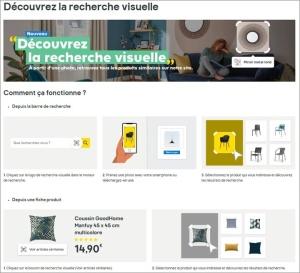 Castorama et son moteur de recherche visuelle